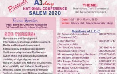 Salem University Holds A 3-Day National Conference