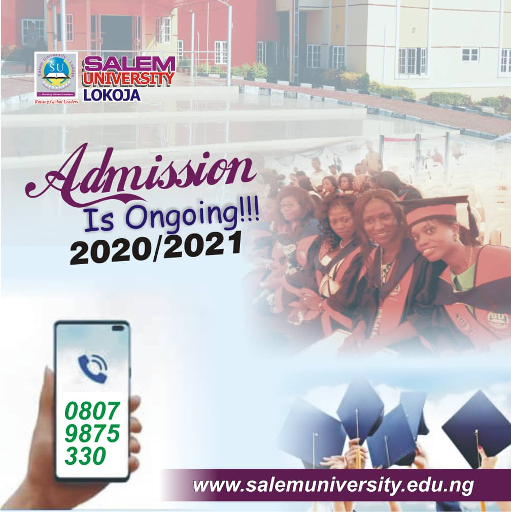 Admission is Ongoing for 2020/2021 Academic Session
